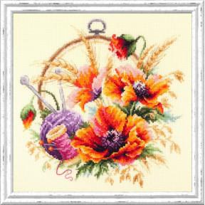 Набор для вышивки крестом Чудесная игла 100-123 Маки для