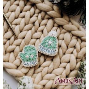 """Набор для вышивки бисером украшения на натуральном художественном холсте AD-028 """"Морозец"""""""