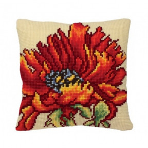 """Подушка для вышивания крестом Collection D'Art 5166 """"Flaming"""