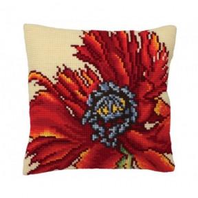 """Подушка для вышивания крестом Collection D'Art 5166 """"Flaming Red"""""""