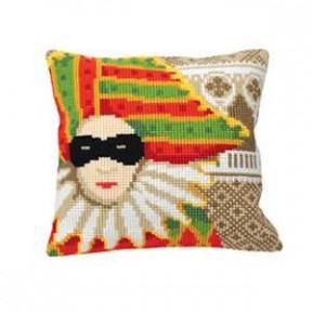 """Подушка для вышивания крестом Collection D'Art 5170 """"Carnaval"""