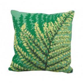 """Подушка для вышивания крестом Collection D'Art 5171 """"Fern Leaf"""