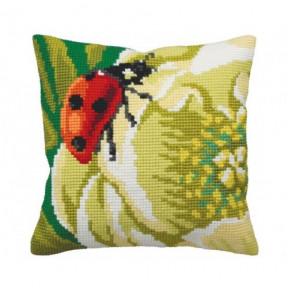 """Подушка для вышивания крестом Collection D'Art 5172 """"Lady bug"""""""