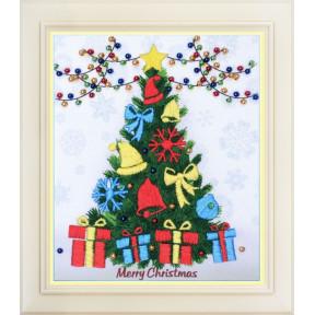 Набор для вышивки нитками в различных техниках OLanTa (стиль Rococo) R-038 Merry Christmas