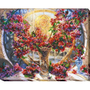 Набор для вышивки бисером на холсте Абрис Арт АВ-663 «Символ Солнца»