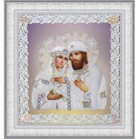 Набор для вышивания бисером  Картины Бисером Р-374 Остробрамская икона Божьей Матери (ажур)