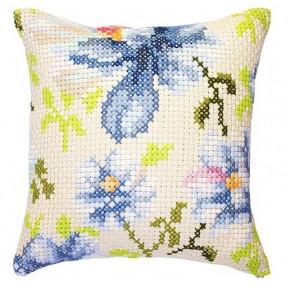 Набор для вышивки подушки Luca-S PB155 Голубые цветы