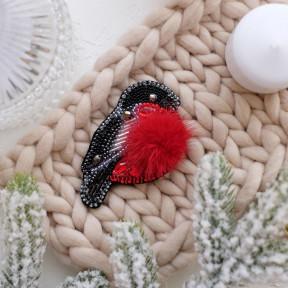 """Набор для вышивки бисером украшения на натуральном художественном холсте Абрис Арт AD-041 """"Снегирь"""""""