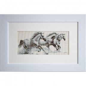 Набор для вышивки Luca-S B495 Белые лошади