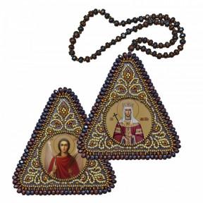 """Набор для вышивания двухсторонней иконы Нова Слобода ВХ-1215""""Св. Равноап. Царица Елена и Ангел Хранитель"""""""