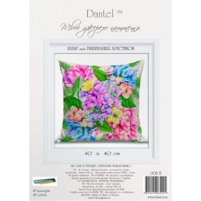 Набор для вышивки крестиком Dantel 005 П/Б Подушка цветы-бабочки