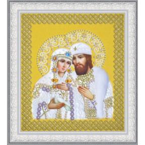 Набор для вышивания бисером Картины Бисером Р-376 Святые Петр и Феврония (ажур) серебро