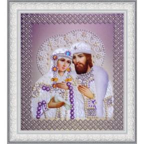 Набор для вышивания бисером Картины Бисером Р-389 Святые Петр и Феврония (жемчуг) золото