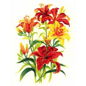 Набор для вышивки крестом Риолис 1782 Солнечные лилии