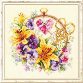 Набор для вышивки крестом Чудесная игла 100-122 Розы для мастерицы АНОНС
