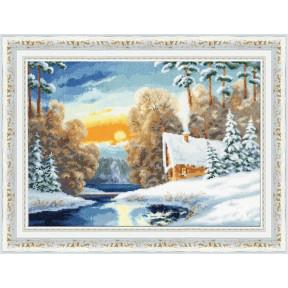 Набор для вышивки крестом Золотое Руно ЛП-051 Зимняя речка