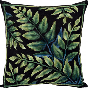 Набор для вышивки крестом Panna Подушка Лесная свежесть ПД-7101