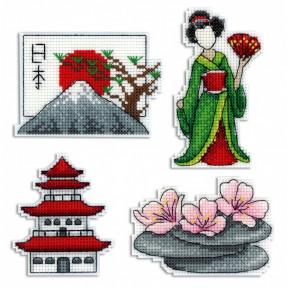 Набор для вышивки крестом МП Студия Р-336 Япония. Магниты
