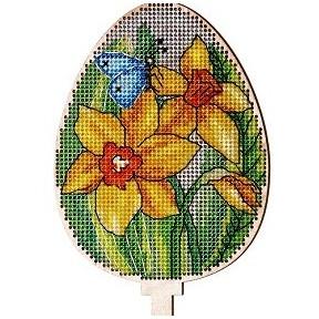 Набор для вышивки крестом Alisena 5537-в Пасхальная – нарцисс