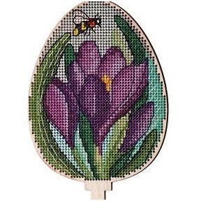 Набор для вышивки крестом Alisena 5538-в Пасхальная – крокусы