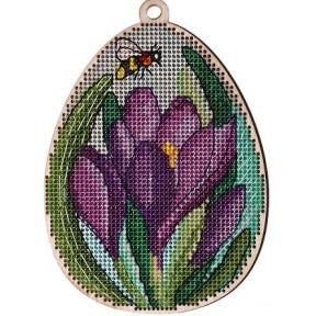 Набор для вышивки крестом Alisena 5538-б Пасхальная – крокусы