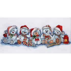Набор для вышивки крестом Alisena 1267а Рождественские мишки