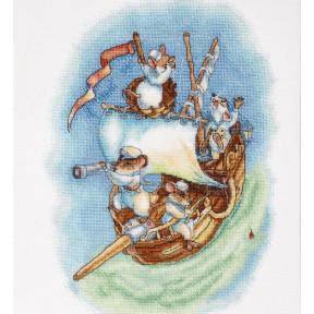 Набор для вышивки крестом Alisena 1270а Мышата морячки фото