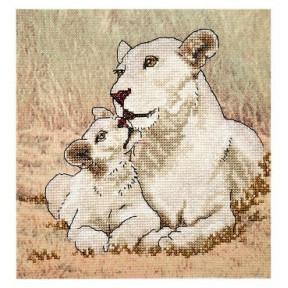 Набор для вышивки крестом Alisena 5117а Львы фото