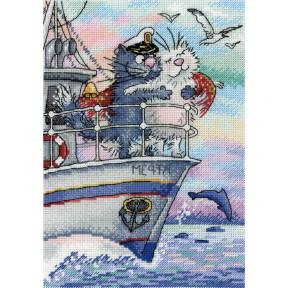 Набор для вышивки крестом МП Студия НВ-686 Море любви