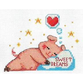 Набор для вышивки Сделай Своими Руками Поросята. Сладкий сон