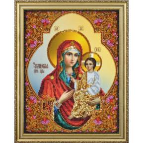 Набор для вышивания бисером Картины Бисером Р-377 Тихвинская икона Божией Матери