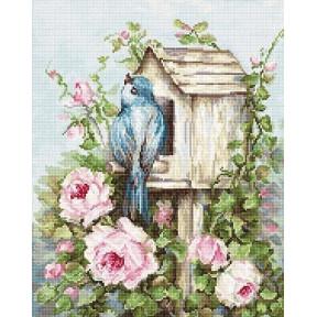 Набор для вышивки крестом Luca-S B2352 Птичий дом и розы фото 953f1a711ea1b