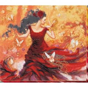 Набор для вышивки бисером на холсте Абрис Арт АВ-672 «Танцующая