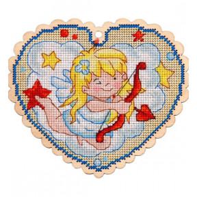 Набор для вышивки крестом Alisena 5542 Валентинка – амурчик фото