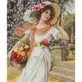 Набор для вышивки крестом и лентами Panna ВХ-1480 Девушка с