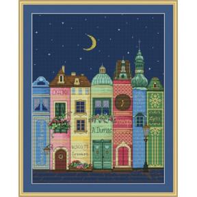 Набор для вышивания крестиком OLanTa VN-111 Книжный город фото