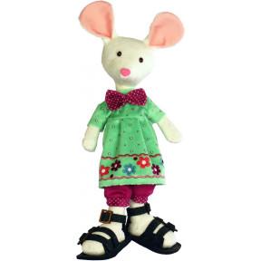 Набор для шитья мягкой игрушки ZooSapiens М3035 Белая Мышка фото