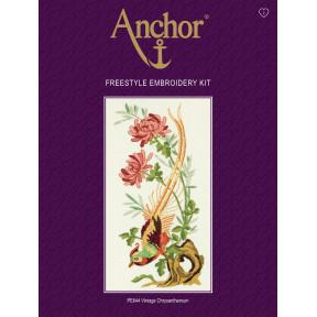 Набор для вышивания гладью  Anchor  PE644 Винтажные хризантемы