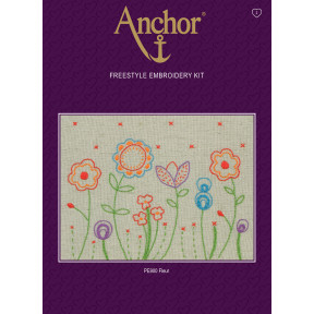 Набор для вышивания гладью  Anchor PE900 Цветы