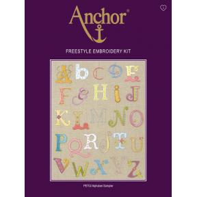 Набор для вышивания гладью  Anchor PE702 Алфавит