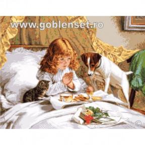 Набор для вышивания гобелен  Goblenset  G1008 Белые розы