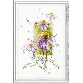Набор для вышивки крестом Чудесная игла 100-101 Эхинацея фото