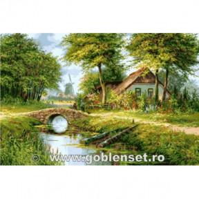 Набор для вышивания гобелен  Goblenset  G1050 Благословение завтрака