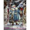 Набор для вышивания открытки бисером Butterfly 708 Дед Мороз