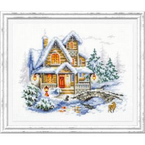 Набор для вышивки крестом Чудесная игла 110-041 Зимний домик АНОНС