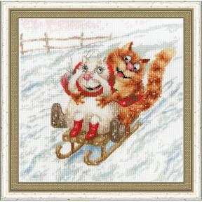 Набор для вышивки крестом Золотое Руно ВК-045 С горочки фото