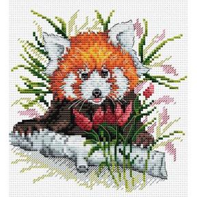 Набор для вышивки крестом МП Студия М-128 Рыжая панда фото