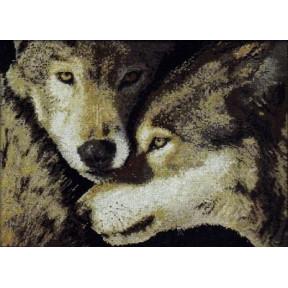 Набор для вышивания Bucilla 45439 Wolf Mates фото