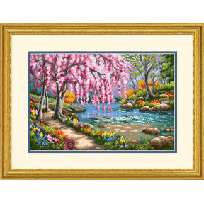 Набор для вышивки крестом Dimensions 70-35374 Cherry Blossom Creek