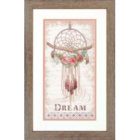 Набор для вышивки крестом Dimensions 70-35375 Floral Dream Catcher